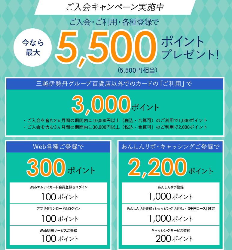エムアイカード 入会キャンペーン